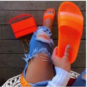 Shoes - ✨JUST IN✨Matte Neon Orange Slide
